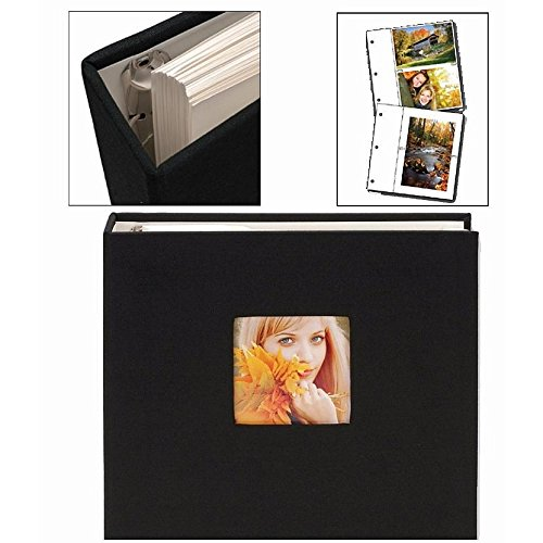 Black Cloth Ringbound Photo Album by Nielsen-Bainbridge - by Nielsen Bainbridge