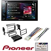 Pioneer Multimedia DVD Receiver with 6.2 WVGA Display and TOYOTA TACOMA 2005 - 2011 CAR STEREO RECEIVER RADIO DASH INSTALLATION MOUNTING KIT