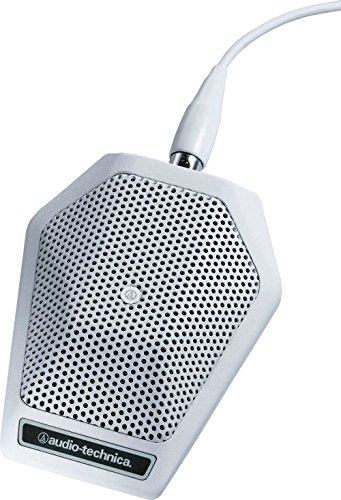 Audio-Technica Cardioid Condenser Microphone Unipoint Cardioid Condenser Boundary Microphone White (U851RW)