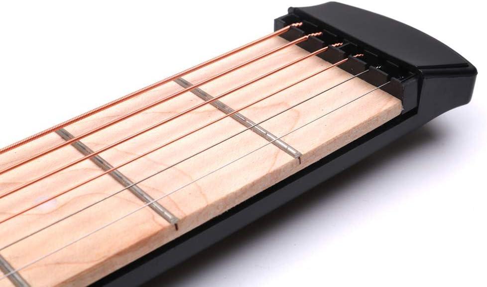 Black SUPVOX Pocket Guitar Trainer Portable Guitar Exerciser Guitar Finger Chord Conversi/ón Trainer Practice Tool