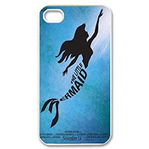 Hot case The little mermaid Hard Plastic phone Case Cover For Iphone 4 4S case cover XFZ394934