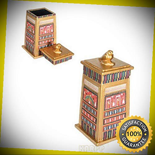KARPP Falcon Box Collectible Egyptian Decoration Jewelry Container Model Perfect Indoor Collectible Figurines]()