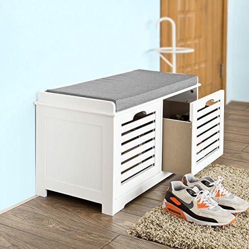 Haotian FSR23-K White Storage Bench
