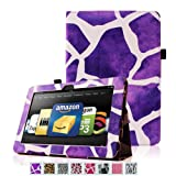 Fintie (Giraffe Purple) Slim Fit Leather Case Cover Auto Sleep/Wake for Kindle Fire HD 8.9″ Inch Tablet, Best Gadgets