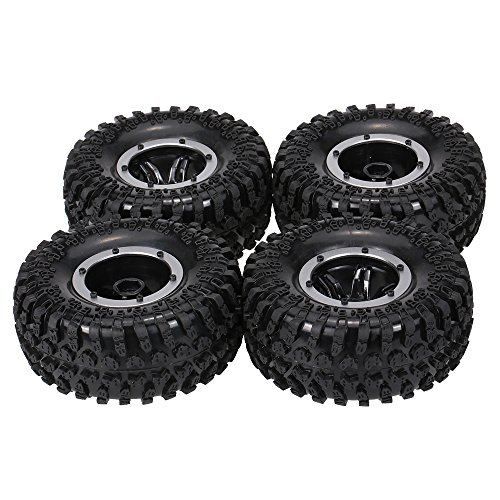 Goolsky Austar AX-3021GD Air Pneumatic Beadlock Wheel Rim and Tire for for 1/10 RC4WD D90 Axial SCX10 Crawler Truck (Beadlock Wheels compare prices)