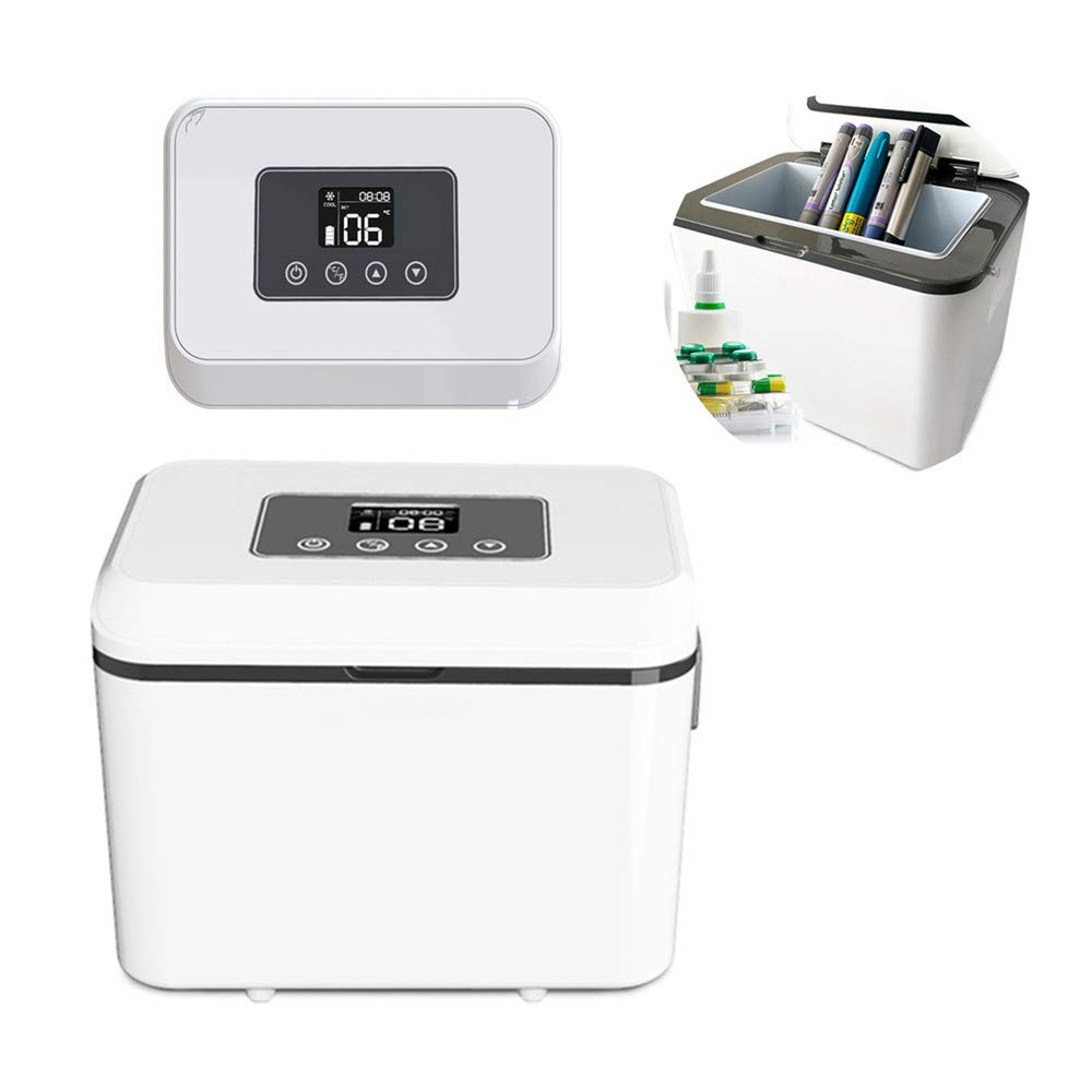 DISON 1.5L Large Capacity Insulin Cooler Box Medicine Fridge Refrigerator Travel Case to Keeps Insulin Cool Cold Storage Temperature 2℃ -25℃ for Daily Use and Travel, Gift with Charger & Battery
