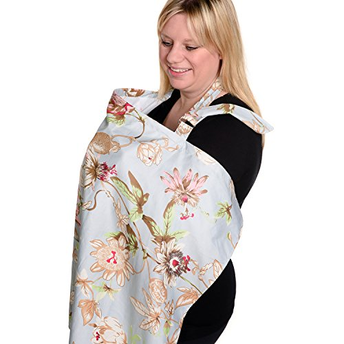 BEST LARGE Nursing Cover for Breastfeeding - Breathable Orga