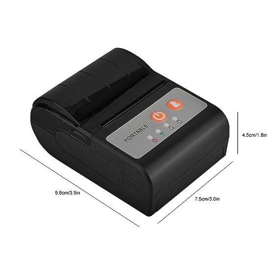 Amazon.com: Impresora de recibos térmicos USB portátil, de ...