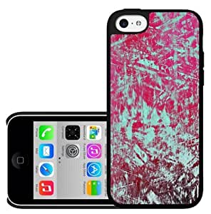 Teal and Pink Abstract Art Hard Snap on Case (iPhone 5c)