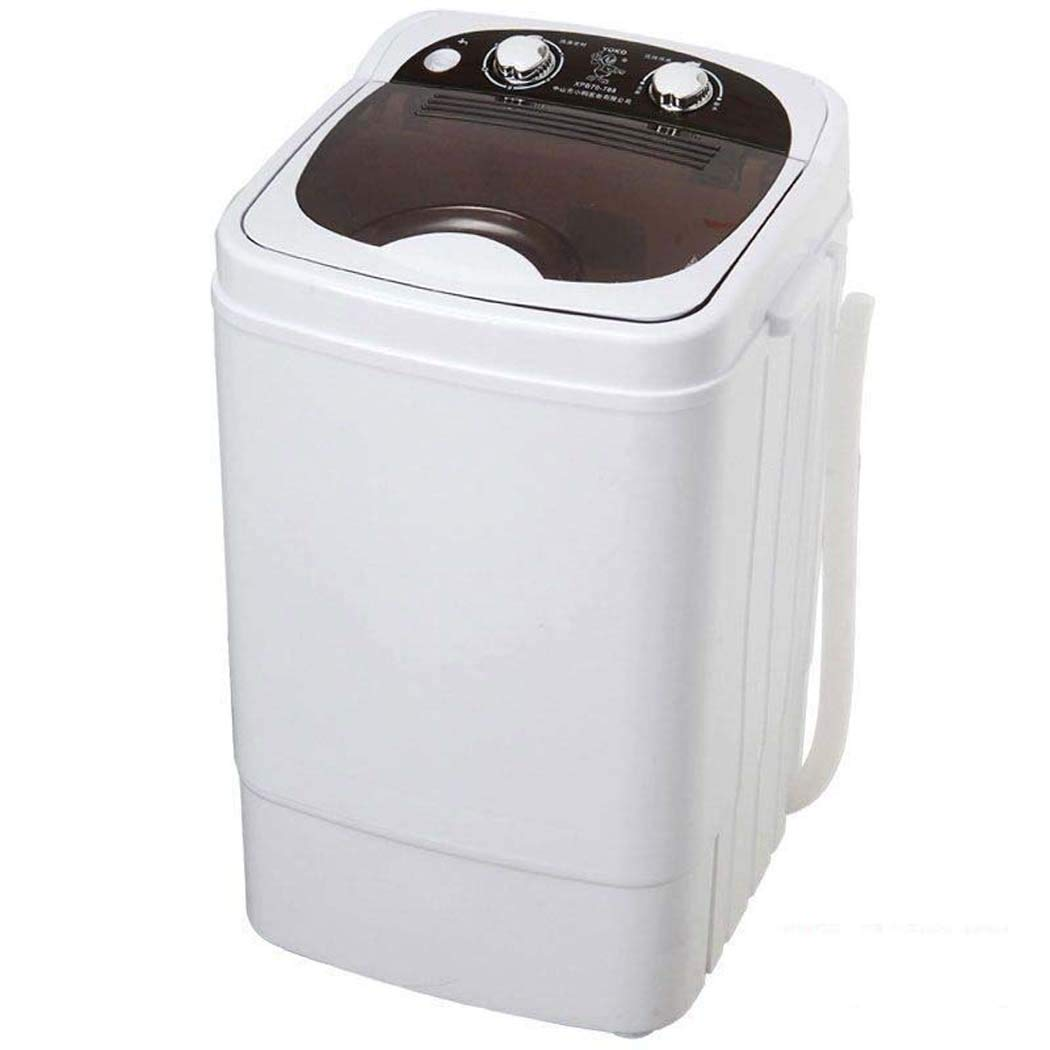 Portable Mini Washing Machine,Portable,Camping Washing Rinse, Mini Laundry Machine, Dewatering Effect No Dripping Mini Portable Small 6Kg Capacity 300W,Black Storage Basket Hamper for Bathroom Storage