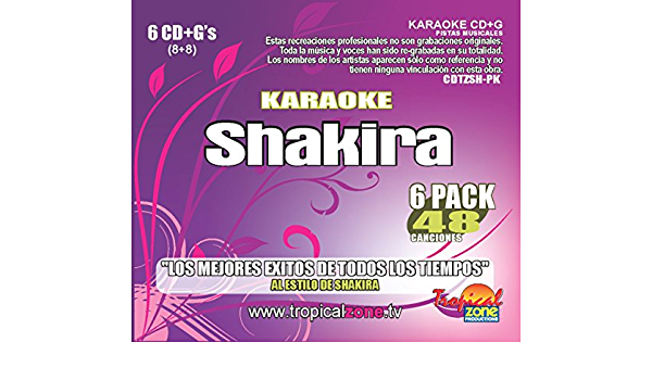 Amazon Com Karaoke Shakira 48 Songs Musical Instruments