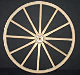 gun buggy shooting cart - Functional - Wood Wagon Wheel - Small Cart Wooden Wagon Wheels - 20 inch with 12 staggard spokes and 1/2 inch steel sleeve axle hole