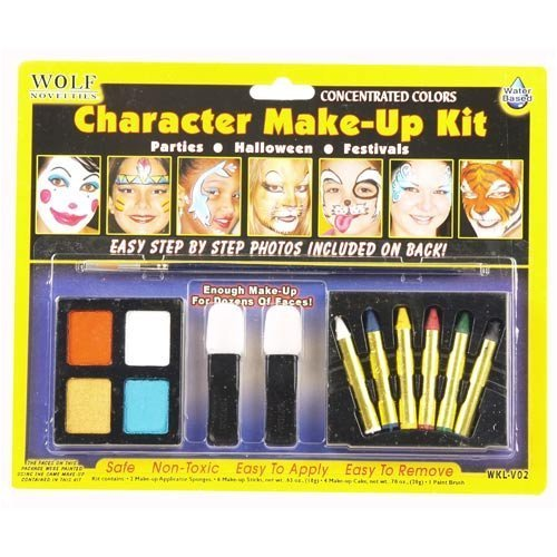 [Wolfe Kids Animal Face Painting Kits] (Kids Cat Costume Face Paint)