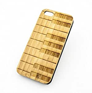 SevenArc? Phone Cover iPhone 5 5s Case BAMBOO WOOD PIANO KEYS music musician rock star keyboard band