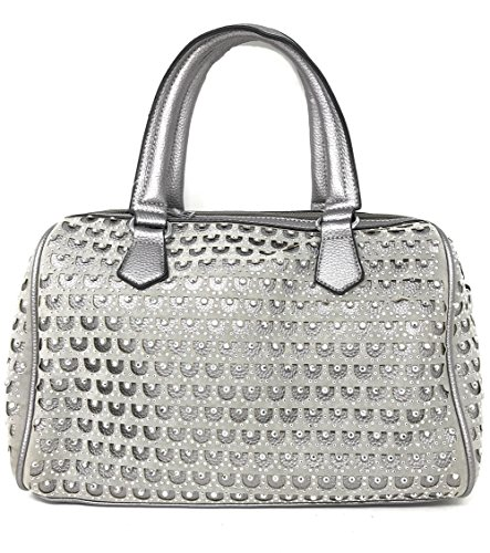 Texas Sac White EU pour Medium à Argent Silver Noir Medium main West femme rgFfqcrn