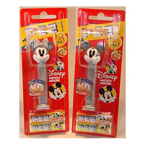 2007 Mickey Mouse - Pez 80th Anniversary Dispensers Mickey and Minnie Mouse Set 2007 Limited Edition Japanese Import