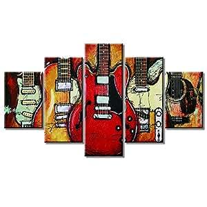 Amazon.com: VIIVEI - Póster, diseño de guitarra con notas ...
