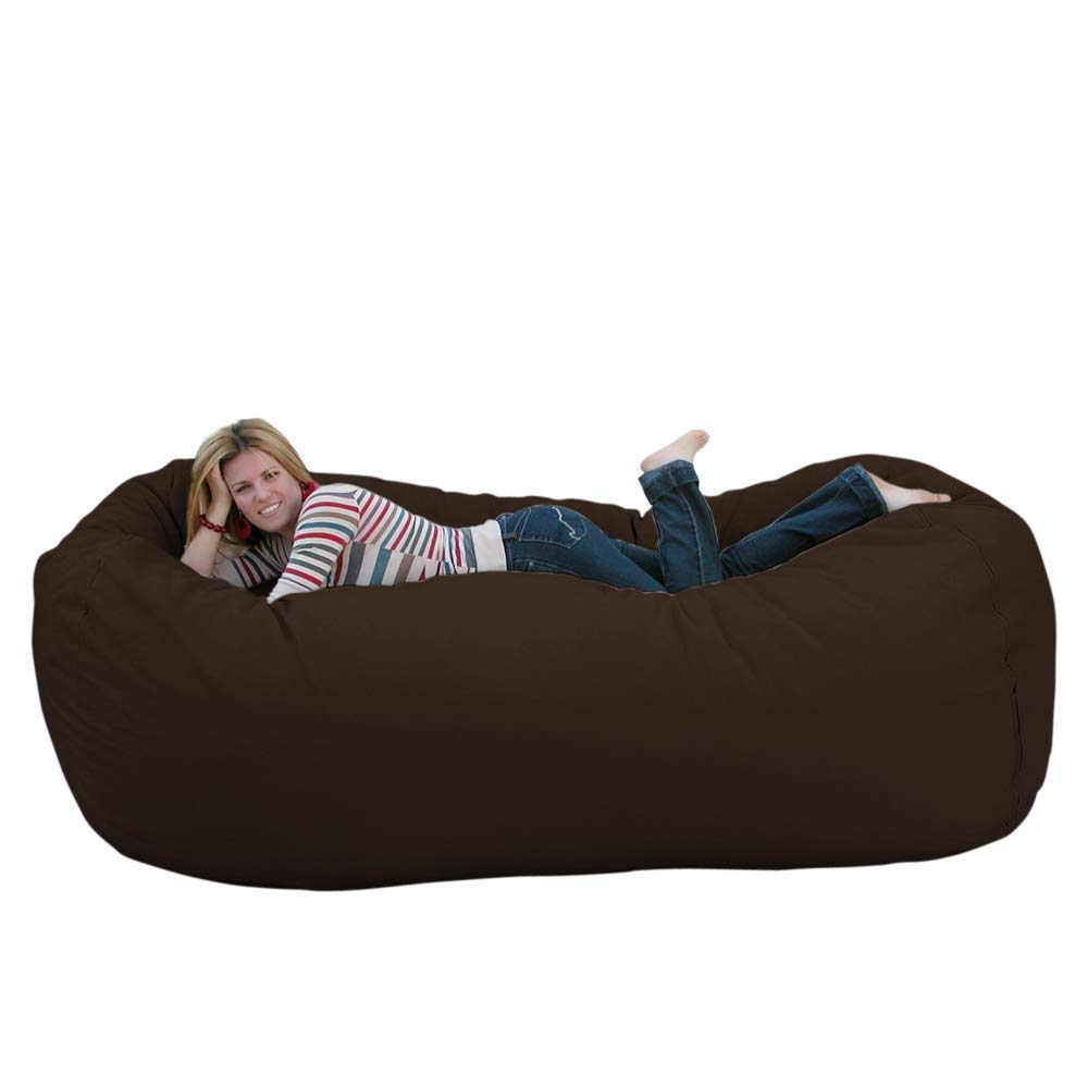 Chocolate 8 feet Cozy Sack 4-Feet Bean Bag Chair, Large, Navy