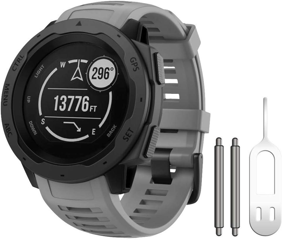 Malla Para Reloj Garmin Instinct sports 130-220mm graphite