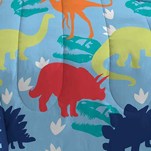 Blue//Green//Multicolor//Orange//Red//White Toddler Dream Factory Dinosaur Comforter Set