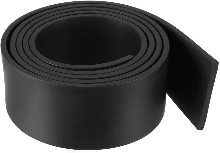 35 mm de ancho, 3 mm de grosor, 1 metro de largo, color negro Tira de goma rectangular sourcing map