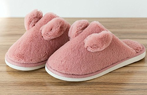 Cattior Womens Pile Calde Pantofole Carine Morbide Pantofole Rosse