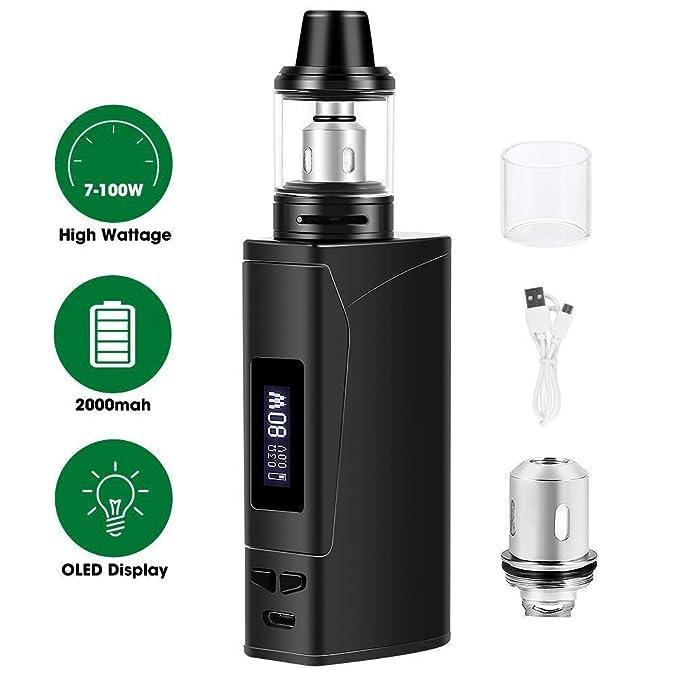 Cigarrillos electrónicos,E cigarette starter kit Armor 100w, E Cigs, Batería recargable de 2000 mah, Enorme Kit de Vape con pantalla,Sin Nicotina y Sin ...