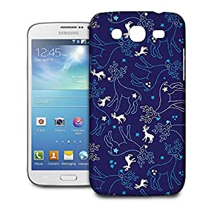Phone Case For Samsung Galaxy Mega 5.8 I9152 - Reindeer and Snowflakes Wrap-Around Cover