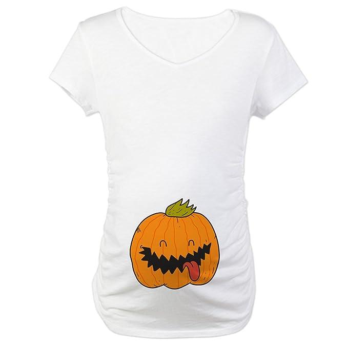11f3bc2ed2f2c CafePress Halloween Jack O Lantern Maternity Tee at Amazon Women s Clothing  store