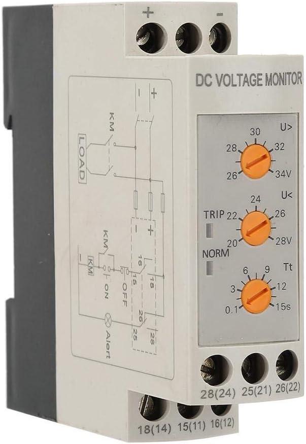 Broco Sobretensiones 24v DVRD de la sobretensi/ón y de bajo voltaje Protecci/ón de rel/é DC 24V
