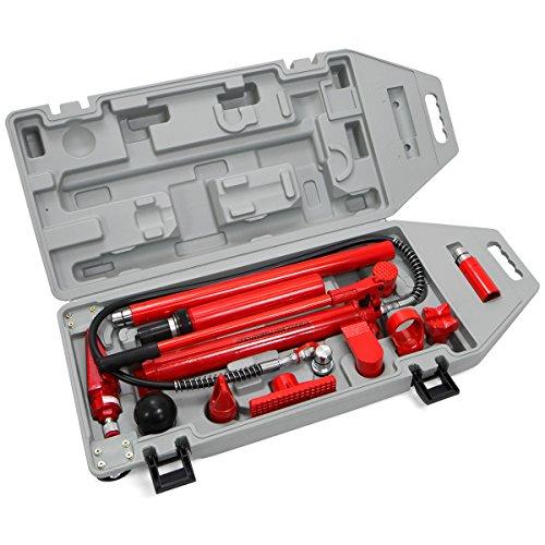 XtremepowerUS Hydraulic Porta Power Auto Body Frame Repair Kit, 10 Ton ()