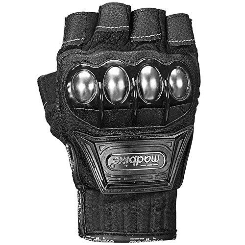 ILM Alloy Steel Bicycle Motorcycle Motorbike Powersports Racing Gloves (XL, HF-BLACK) by ILM (Image #1)