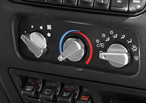 Rugged Ridge 11420.04 Billet Aluminum Climate Control Knob with Red Indicator Light - Pack of ()