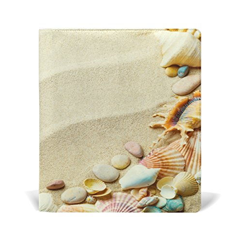 Hardback Cover Shell (Cooper girl Sand Beach Seashell Book Cover Fits Most School Hardcover Textbooks Up To 9 x 11 inch Durable Reusable Universal Size)