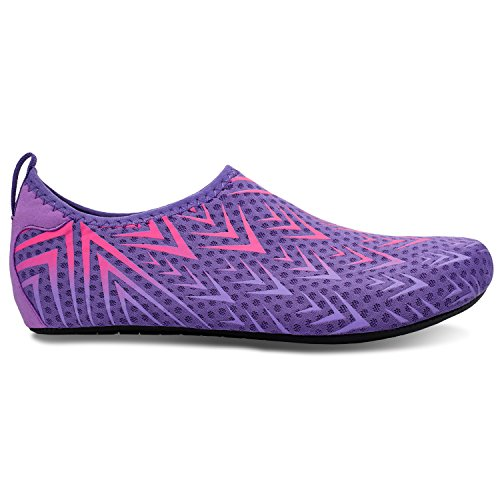 L-RUN Unisex Water Shoes Barefoot Skin Shoes for Run Dive Surf Swim Beach Yoga Purple Arrow pwhbq