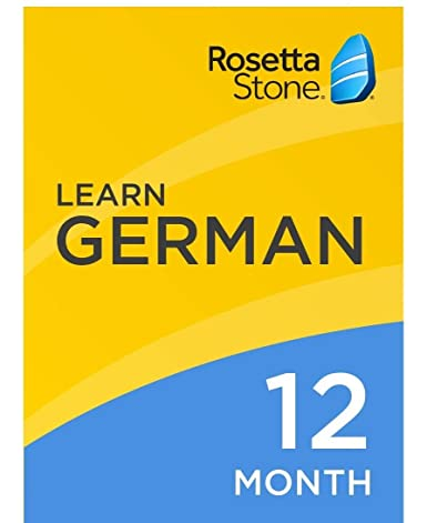 Rosetta Stone: Learn German for 12 months on iOS, Android, PC, and Mac  [Activation Code by Mail]