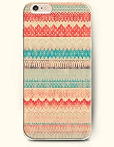"""OOFIT Apple iPhone 6 Case 4.7"""" - Aztec Indian Chevron Zigzag Pattern ( Blue And Red Popular Ethic Tribal Pattern )"""