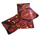 Luxurious Satin Flaxseed Eye Pillow with Washable Pillowcase for Cold or Hot Therapy. Relieve Puffy or Dry Eyes. Eye Pads For Relaxing Warmth, Cooling Relief. Eye Mask for Sleep, Yoga. (Floral)