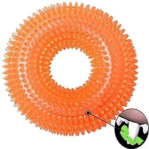 LEGEND SANDY Dog Chew Toys Indestructible Aggressive Chewers Large Breed Squeak Toys (Orange) 75