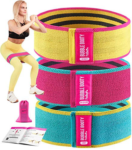 Booty Bands for Women Fabric Resistance Bands for Women Butt and Legs Workout Bands Leg Bands for Working Out Squat…