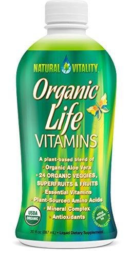 Natural Vitality Organic Life Vitamins, (2 Bottles of 30 Ounce)