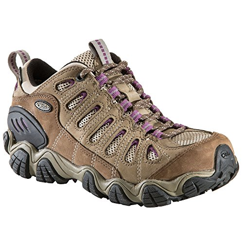 Oboz Women's Sawtooth B-Dry Waterproof Low Hiking Shoes, Violet, Wide Purple 11 by Oboz