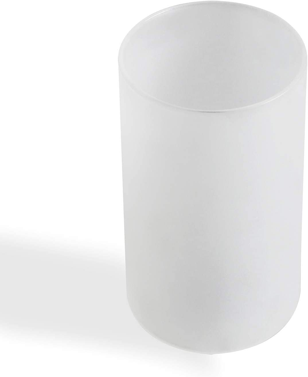 Eumyviv White Frosted Glass Lamp Shade, Accessory Glass Fixture Replacement Globe or Lampshade with 1-5/8-Inch Fitter(A00013)