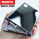Book cover from Magneto pro Square Magnetic case for iphone X 8 Plus 7 plus phone case luxury metal bumper+tempered glass back cover for iphone X (White, For iPhone 8 Plus) by Julian Jackson