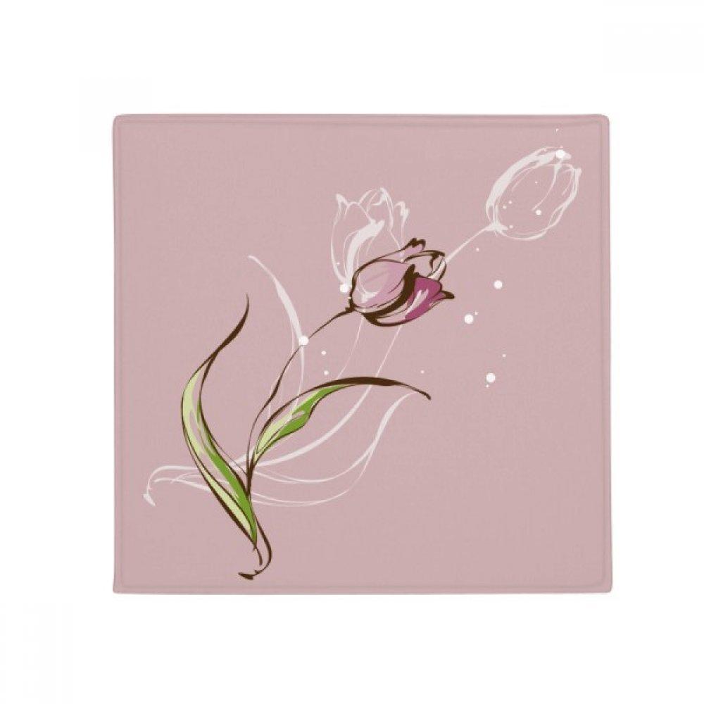 DIYthinker Flower Plant Tulip Hand Painted Anti-Slip Floor Pet Mat Square Home Kitchen Door 80Cm Gift