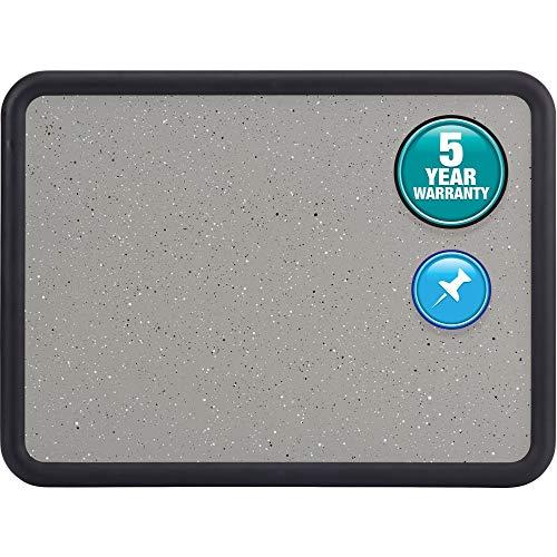 Quartet 699365 Bulletin Board, 24-Inch x18-Inch, Black Frame/Faux Granite
