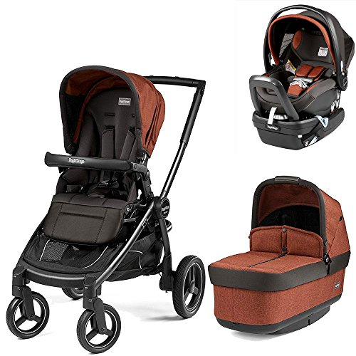 Peg Perego Team Stroller with Primo Viaggio Nido Car Seat - Terracotta