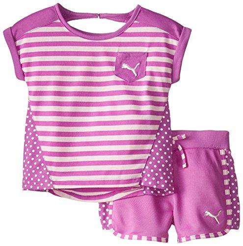 Puma Little Girls' Stripe Block Set, Purple Belle, 2T