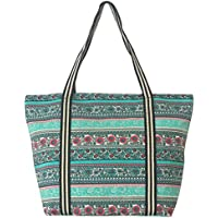 Large Utility Canvas and Nylon Travel Tote Bag For Women and Girls1700(1605) (B.MINT)