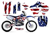 Stars & Stripes-AMRRACING MX Graphics decal kit fits Yamaha YZ 125/250 (1996-2001)-Red-White-Blue